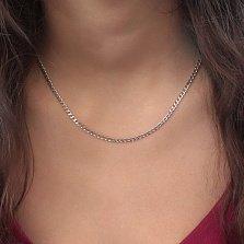 Серебряная цепочка Даллас в панцирном плетении с алмазной гранью, 3мм