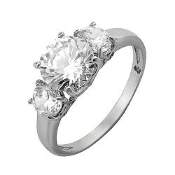 Серебряное кольцо с цирконием Шик
