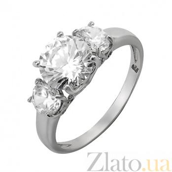 Серебряное кольцо с цирконием Шик 000029160