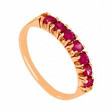 Золотое кольцо с рубинами Passion