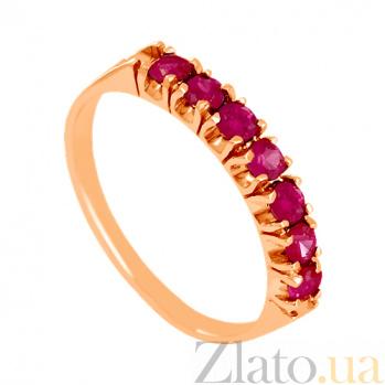 Золотое кольцо с рубинами Passion VLN--122-1539-13