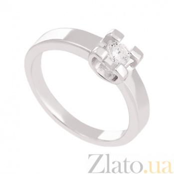 Золотое кольцо с бриллиантом Нью-Йорк VLN--122-1477*