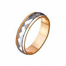 Золотое обручальное кольцо Айрин