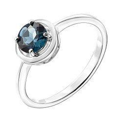 Серебряное кольцо с лондон топазом 000137582