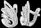 Серьги из серебра с фианитами Аванти SLX--С2Ф/025
