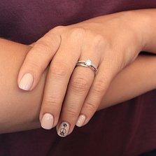 Серебряное кольцо Соединение с фианитами