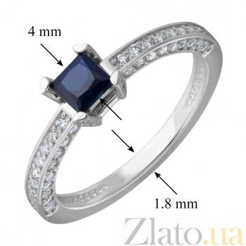 Кольцо из белого золота Алекто с сапфиром и бриллиантами EDM--КД7494/1САПФИР