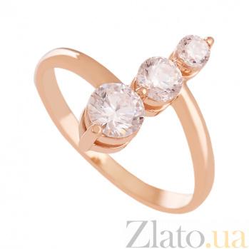 Золотое кольцо с фианитами Калифорния VLN--212-1564