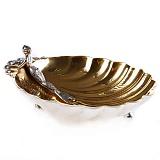 Серебряная икорница Морская дева
