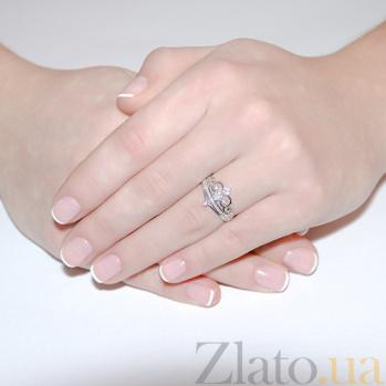 Кольцо с белыми фианитами  Жуан 2371.1