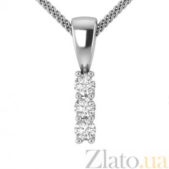 Золотой подвес в белом цвете с бриллиантами Феникс 000030758