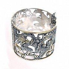 Серебряный браслет с позолотой Мифы