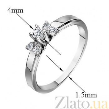 Кольцо Изабелла из белого золота с бриллиантами EDM--КД7420/1