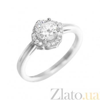 Серебряное кольцо Нелли с фианитами 000081628