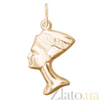 Серебряный подвес Любовь Фараона с позолотой 000027500