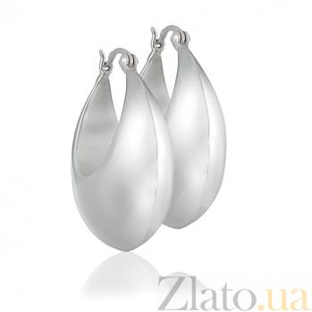 Серебряные серьги Новолуние 10030145
