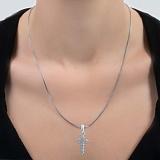 Серебряный крестик Надежда с фианитами