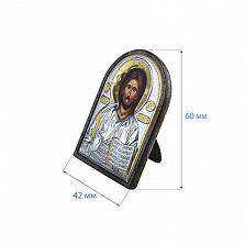 Икона Иисуса Христа из серебра с позолотой