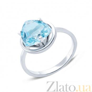 Серебряное кольцо с топазом Атлантида 000015886