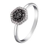 Кольцо в белом золоте Ундина с бриллиантами