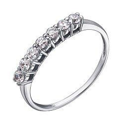 Кольцо в белом золоте Диана с кристаллами Swarovski