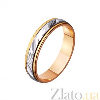 Обручальное кольцо из комбинированного золота Взаимная нежность TRF--421091