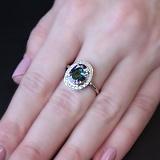 Серебряное кольцо Ронара с мистик кварцем и фианитами