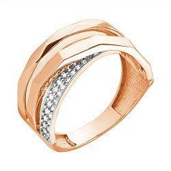 Кольцо из красного золота Грэтхен с фианитами