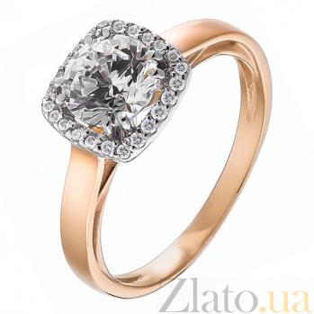 Золотое кольцо с фианитами Магия блеска HUF--80503