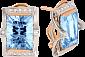 Золотые серьги Сан-Франциско с топазами и фианитами 000024376