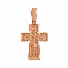 Крестик из красного золота Путь веры