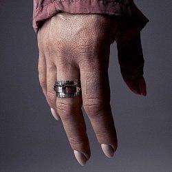 Кольцо из серебра Bermuda sloop с золотыми накладками и чернением 000091348