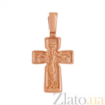 Крестик из красного золота Путь веры VLN--314-1620
