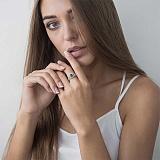 Золотое кольцо Атрия с изумрудом и бриллиантами
