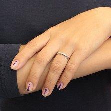 Серебряное обручальное кольцо Элегия