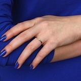 Золотое кольцо с фианитами на фалангу Отражение