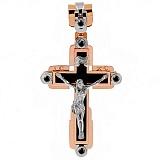 Крест из комбинированного золота с агатом Небеса