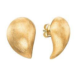 Серебряные серьги-пуссеты с позолотой 000138730