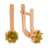 Золотые серьги Клеменс с фианитами