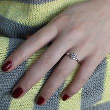 Серебряное кольцо Бриттани с сиреневым кристаллом циркония