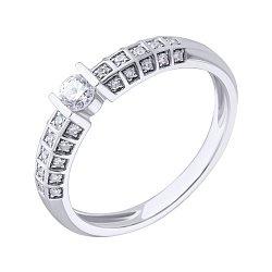 Кольцо в белом золоте Божена с бриллиантами