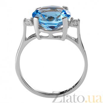 Кольцо из белого золота с голубым топазом Конкордия TRF--122010н