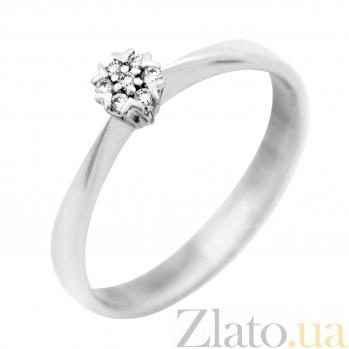 Золотое помолвочное кольцо Афродита в белом цвете с бриллиантами VLA--15599