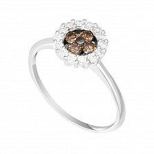 Кольцо в белом золоте Эстела с бриллиантами