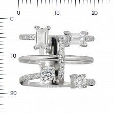 Серебряное кольцо Союз с фианитами