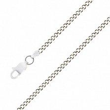 Серебряная цепочка Панцирного плетения