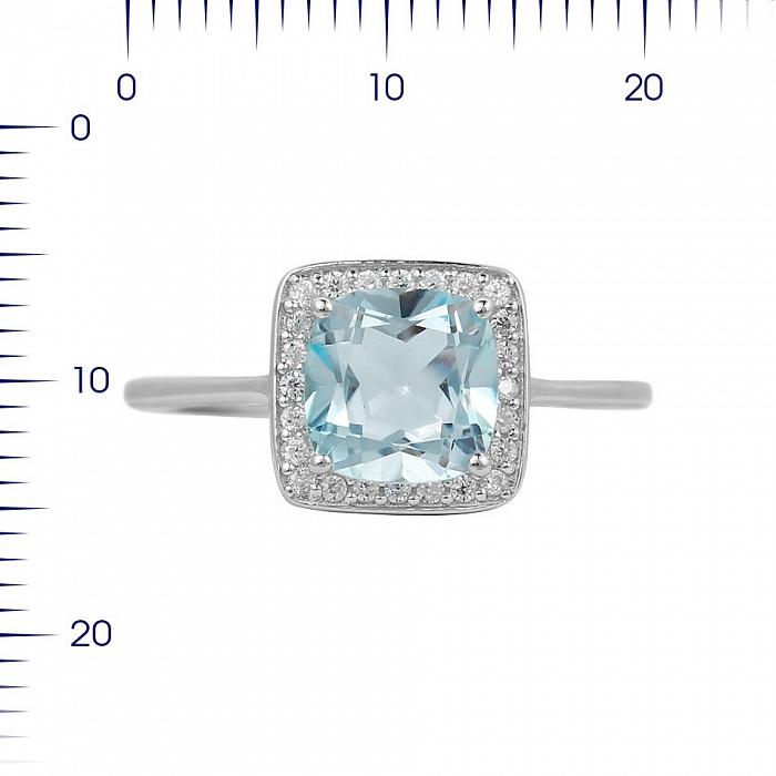 Серебряное кольцо Радмила с топазом и фианитами 000081588