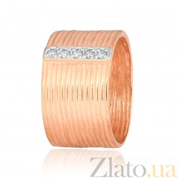 Позолоченное серебряное кольцо с фианитами Лика 000028244
