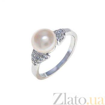Серебряное кольцо с натуральной жемчужиной Элли AQA-R00567PW