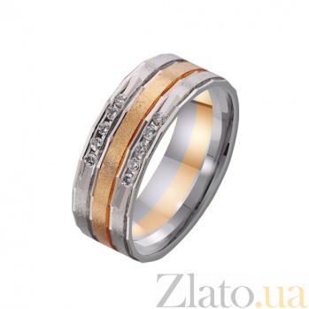 Золотое обручальное кольцо Нежность чувств с фианитами TRF--4421062